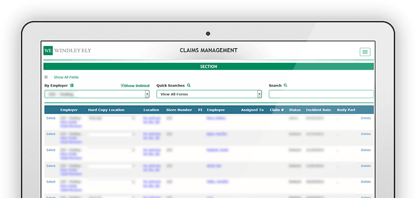Workers compensation claims and case management platform
